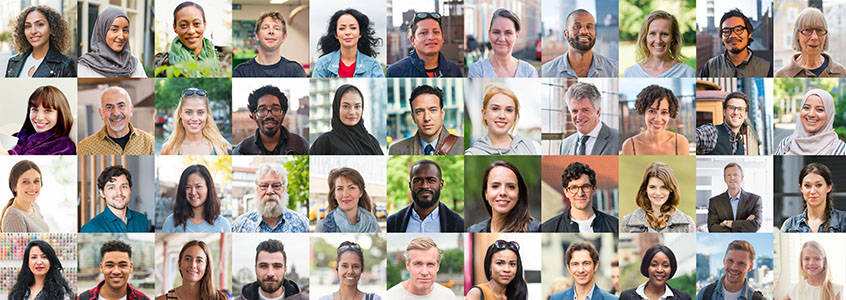 pictures of people of various ages, races, and gender identities