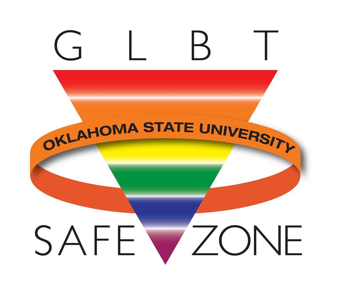 GLBT OSU Safezone rainbow triangle
