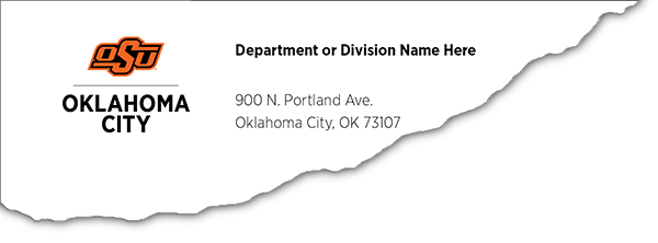OSU-OKC Envelope Example
