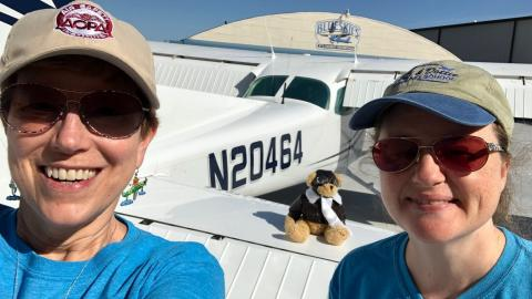 OSU-OKC's Elaine Regier, left, and her co-pilot, Holly Blunk.