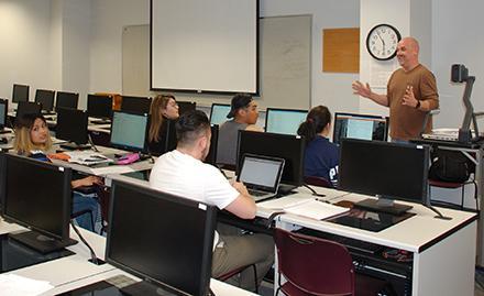 Professor Bonner Slayton teaching class