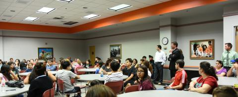 EXCELerate Students and parents at Boeing presentation on STEM