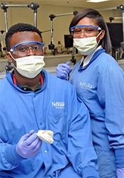 OSU-OKC Project SOAR student Justin Forest pictured during the Summer Health Professions Education Program (SHPEP) offered at the University of Nebraska Medical Center.